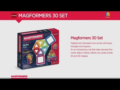 Magformers Rainbow 30 Piece Set .