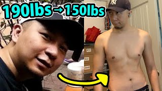 我如何由190磅死肥仔,變150磅無咁肥既肥仔? Body Transformation at Age 35