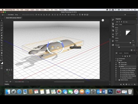 44-Adobe PhotoShop CC| 3D desgin Draw animal - part1رسم مجسم ثلاثي الابعاد في الفوتوشوب