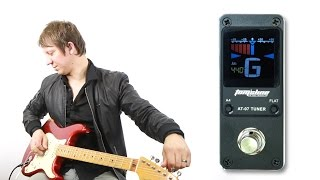 Tomsline AT-07 Premium Chromatic Tuner Metal Body Chasing Stompbox Efek Gitar BARU