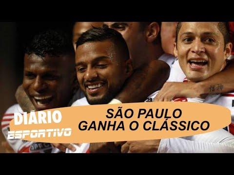 São Paulo ganha o clássico contra o Corinthians e se mantém na cola do líder