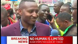 Nakuru residents overjoyed as Eliud Kipchoge breaks the two hour barrier