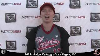 2022 Paige Kellogg Third Base Softball Skills Video - Lil Rebels