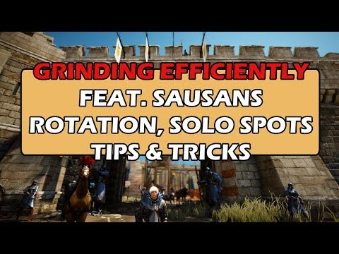 Grinding Efficiently feat  Sausans - Rotations, Solo Spots