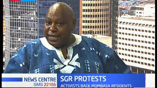 Human Activist Maina Kiai, supports the SGR protests happening in Mombasa County