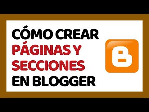 Cómo Crear Páginas en Blogger 2016 (Crear Categorías)