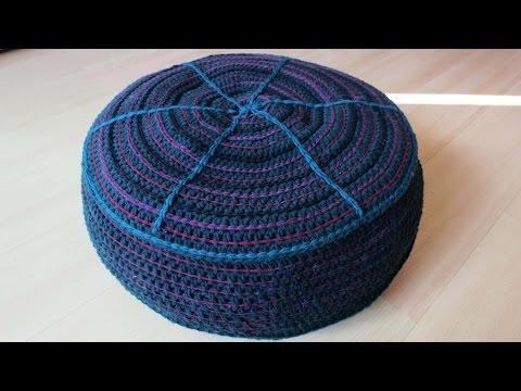 Sitzkissen häkeln * DIY * Crochet Pouf [eng sub]