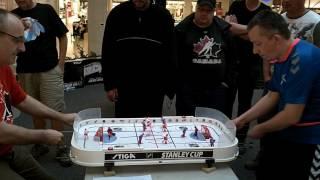Edmonton Centennial Cup XIII 2016 Kunzler vs Axelsson Stiga table hockey Final