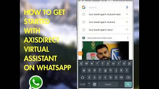 How to enable Axis Direct WhatsApp Virtual Assistant