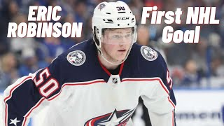 Eric Robinson #50 (Columbus Blue Jackets) first NHL goal 12/11/2019