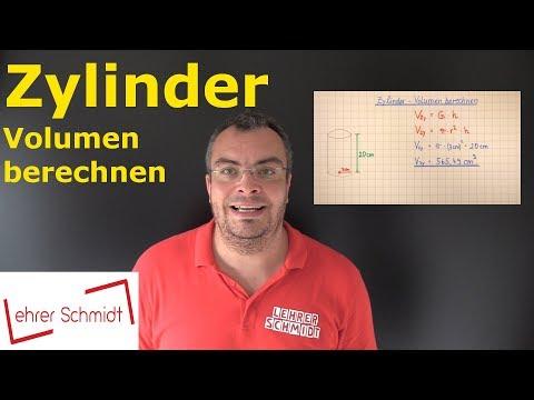 Zylinder - Volumen berechnen | Mathematik - einfach erklärt