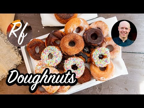 How to make your own doughnuts. Complete how to make the dough, fry them with glazings and sprinkles.  >