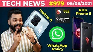 المواصفات الكاملة لـ realme 8 Pro ، سياسة WhatsApp 🤨 ، تفاصيل Snapdragon 775 ، ROG Phone 5 سجل جديد- # TTN979