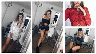 HUGE TRY ON CLOTHING HAUL | MISSGUIDED, BOOHOO & PRETTY LITTLE THING