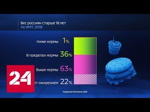 Россия в цифрах. Насколько актуальна проблема ожирения? - Россия 24