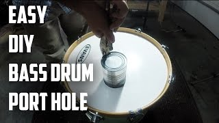 How to Cut a Bass Drum Port Hole | DRUM HACK