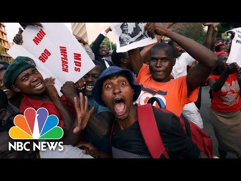 Celebrations In Zimbabwe As Robert Mugabe Resigns | NBC News