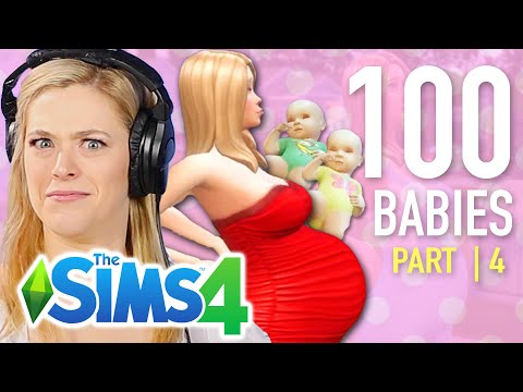 Single Girl Tries The 100-Baby Challenge In The Sims 4 | Part 4