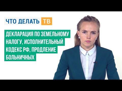 Декларация по земельному налогу, Исполнительный кодекс РФ, продление больничных