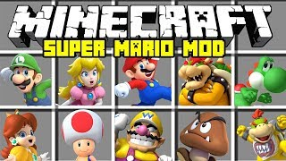 Minecraft SUPER MARIO MOD / BECOME MARIO AND DEFEAT BOWSER IN MUSHROOM KINGDOM!! | Modded Mini-Game