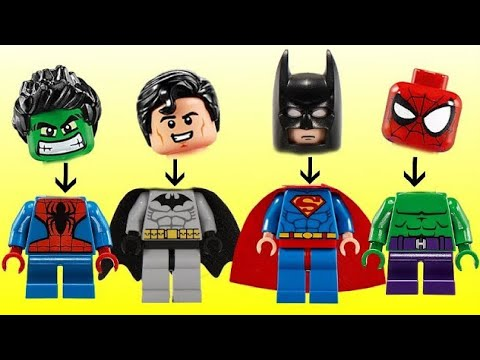 Superhero Legos With Avengers Ironman, Batman, Superman & Hulk