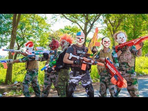 NERF WAR : Dangerous Task SWAT Hunter Nerf Guns Fight Criminal Group Mask