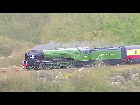 LNER 60163 'Tornado' with the first steam tour in the South …