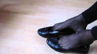 Black Sabrinas, Nylons And Leggins  Shoeplay And Dangling