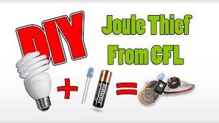 Diy Joule Thief From Broken CFL