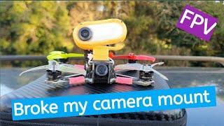 Broke my camera mount | FPV freestyle