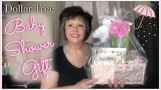 DOLLAR TREE 🌸 BABY SHOWER GIFT BASKET 🌸 Country Girl