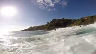 preview picture of video 'Surfing at Awana beach, Great Barrier, New Zealand'
