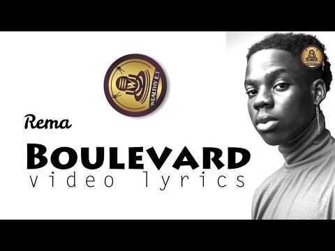 Rema   Boulevard official video lyrics