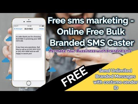 Free sms marketing - Online Free Bulk SMS Branded SMS Caster