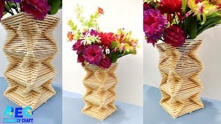 HOW TO MAKE FLOWER VASE MAKING AT HOME