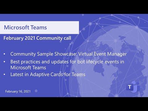 Microsoft Teamscommunitycall-February16, 2020