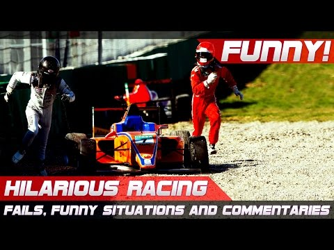 FUNNY RACING! Best Of Fails, Hilarious Situations And Commentaries Of 2016 Compilation