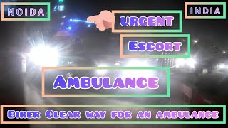 Biker Clears Way for An Ambulance to Save Life's #Helping #Emergency #Ambulance