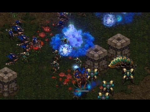 Jaedong (Z) v Sky (P) on Aztec - StarCraft  - Brood War REMASTERED