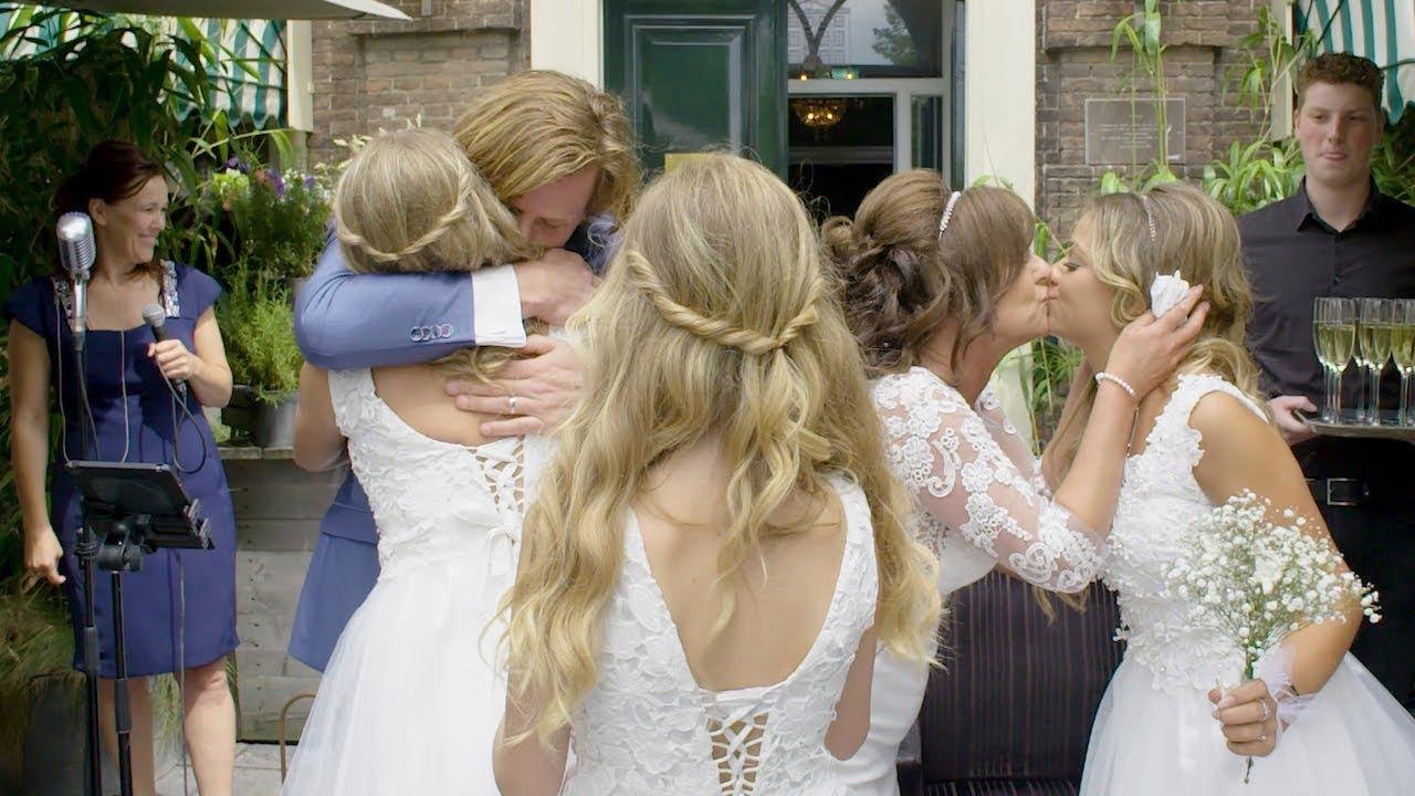 Bruid bedankt haar dochter