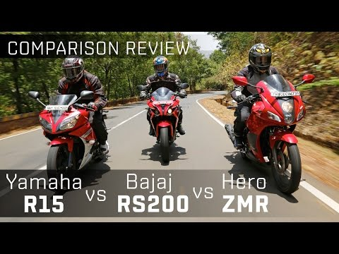Bajaj Pulsar RS200 vs Yamaha R15 vs Hero Karizma ZMR :: Bike Comparison Video :: ZigWheels