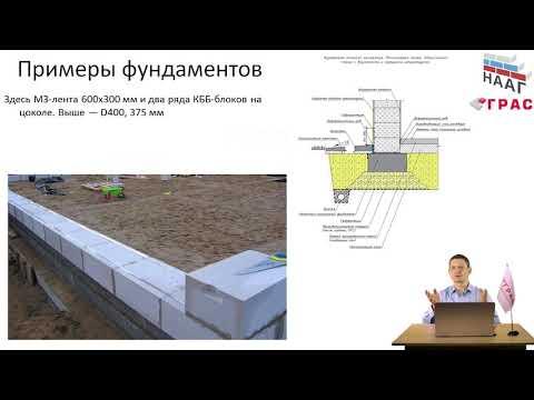 На каких фундаментах можно строить дом из газобетона