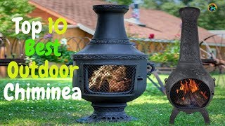 Top 10 Best Steel Construction Outdoor Wood Burning Fire Pit Chiminea