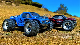 WLToys A979 1/18 4WD Monster Truck High Speed RC Cars! Blue vs Black First Look, Run ... & Trouble!