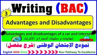 Writing A Paragraph: Advantages and Disadvantages (The car and the Internet) - English With Simo