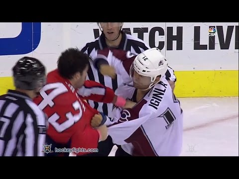 Jarome Iginla vs Tom Wilson