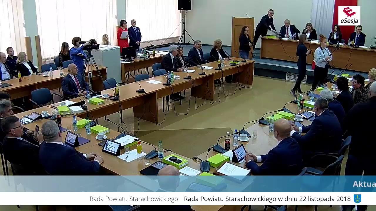 Inauguracyjna Sesja Rady Powiatu w Starachowicach kadencji 2018-2023 - część I