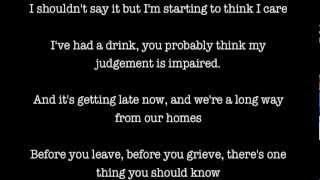 Tom Odell - Hold Me Lyrics
