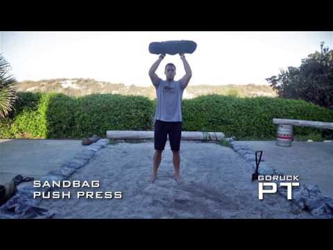 Sand bag Push Press