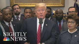 Trump: 'Opportunity Zones' Policy Amid Qun Of Whether Family Buz Could Benefit | NBC Nightly News